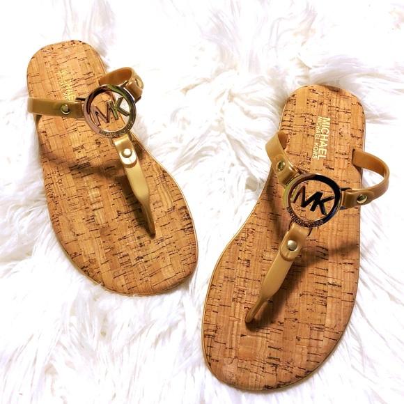 cbe332e09 MICHAEL Michael Kors Shoes   Mk Charm Jelly Cork Sandals   Poshmark